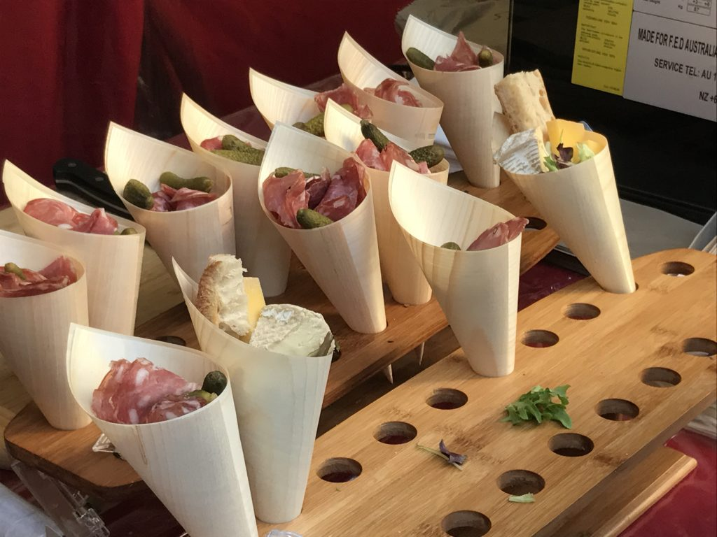Cheese cones at Bastille Festival