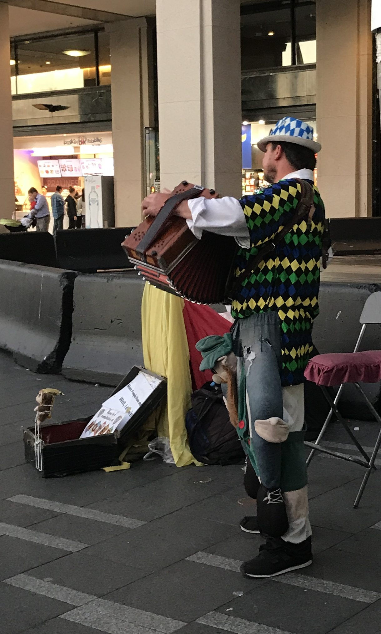 Accordion player in the Nordic zone